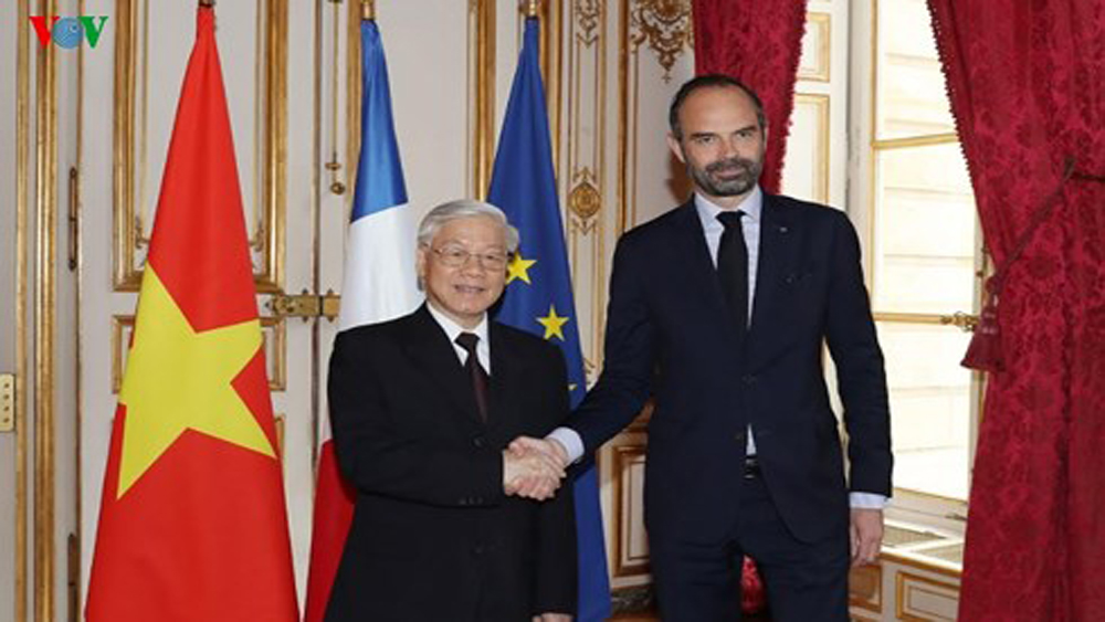 Tổng Bí thư Nguyễn Phú Trọng hội kiến Thủ tướng Pháp